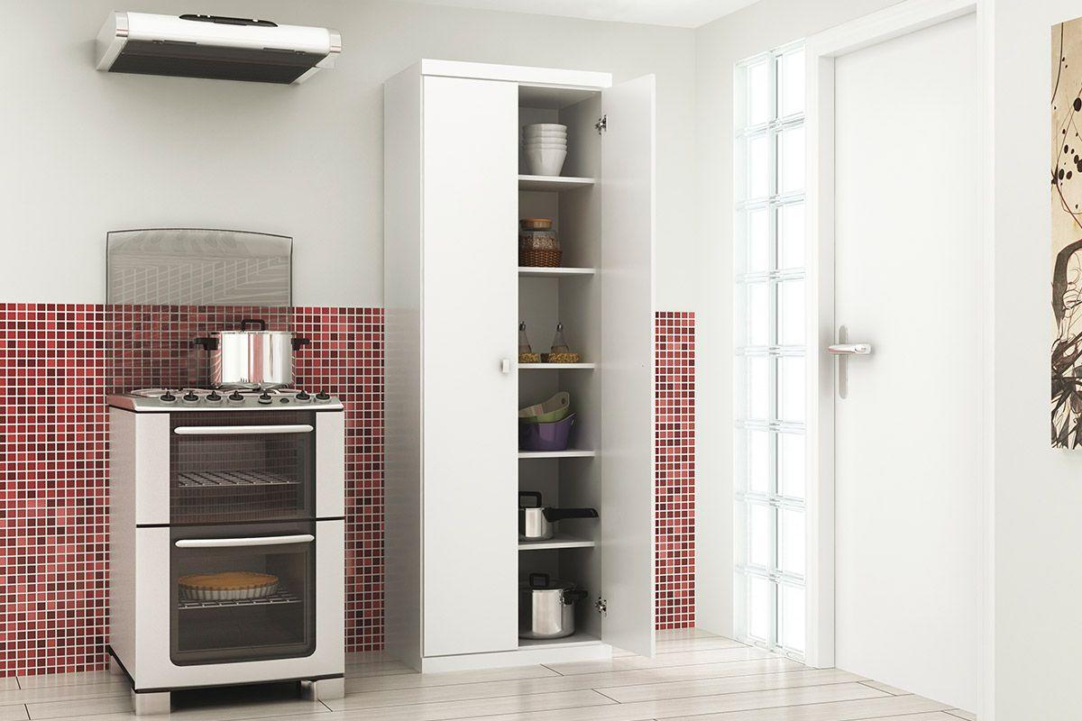 Armário Multiuso de Cozinha Tecno Mobili AM 3102 c/ 2 Porta e 5  #943837 1200x800