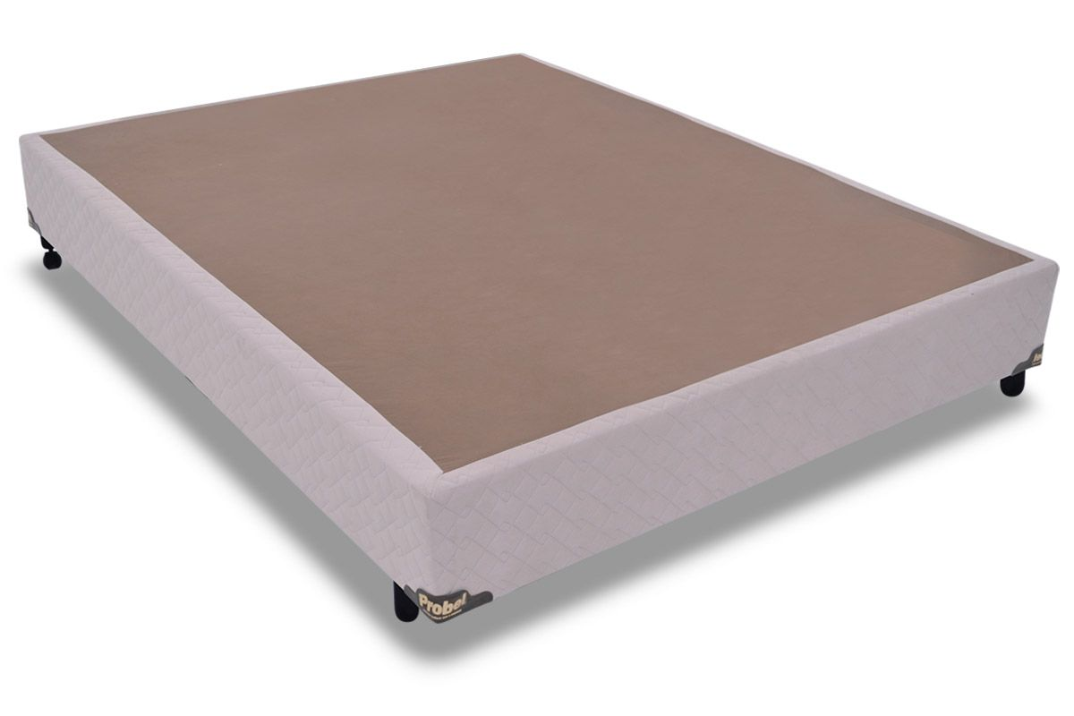 Cama Box Base Probel Suede Marfim