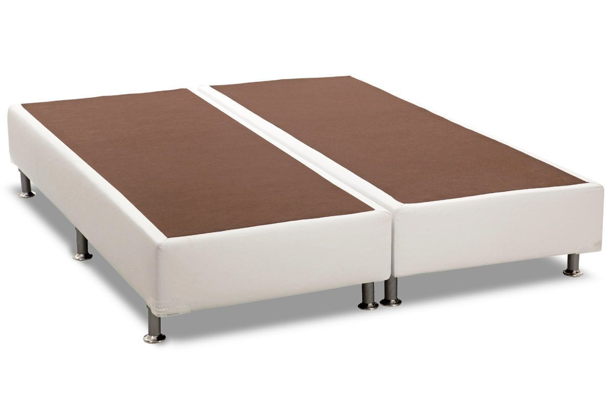 Conjunto Cama Box - Colchão Polar de Molas Pocket Rubi + Cama Box Universal Couríno White