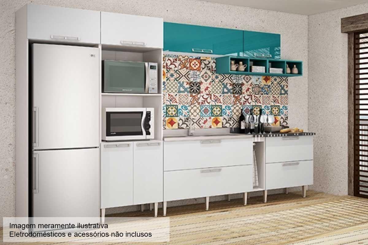 Moveis Cozinha Cozinha Compacta Com Balco E Tampo Peas Franciele
