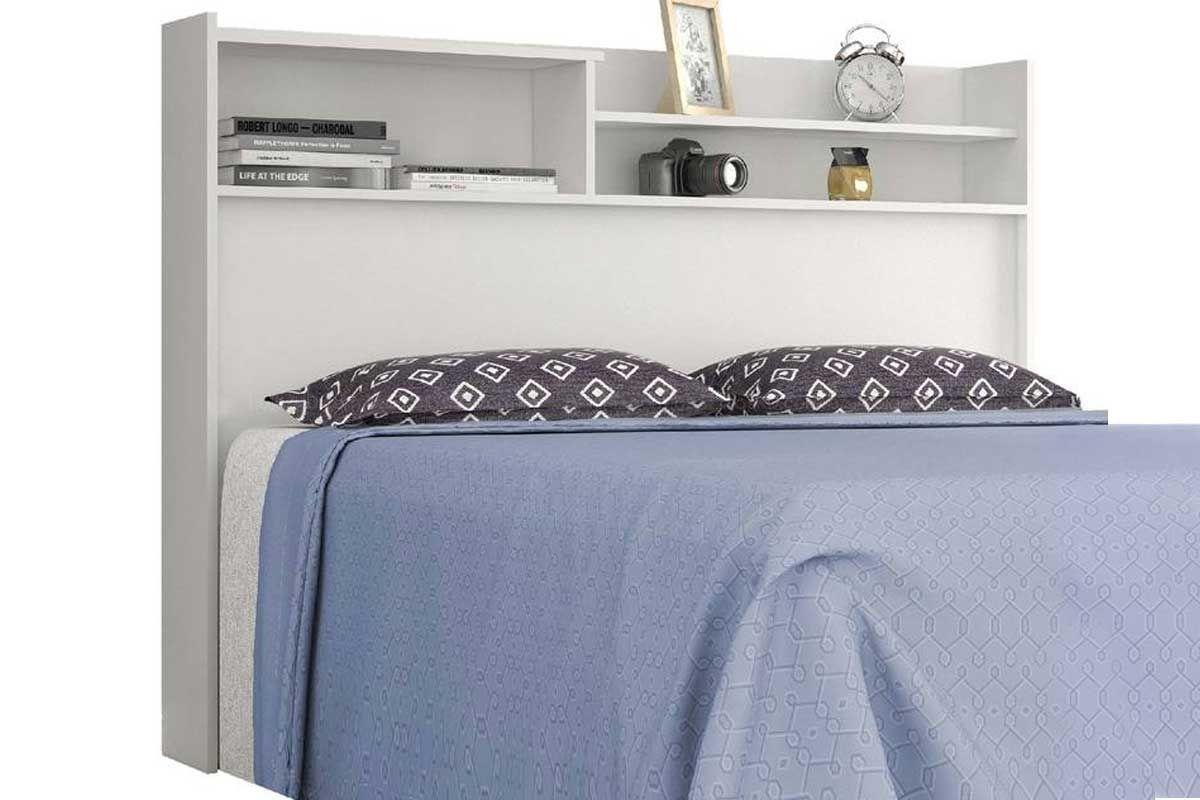 Cabeceira cama box casal conquista roma cor branco costa for Cama queen costa rica