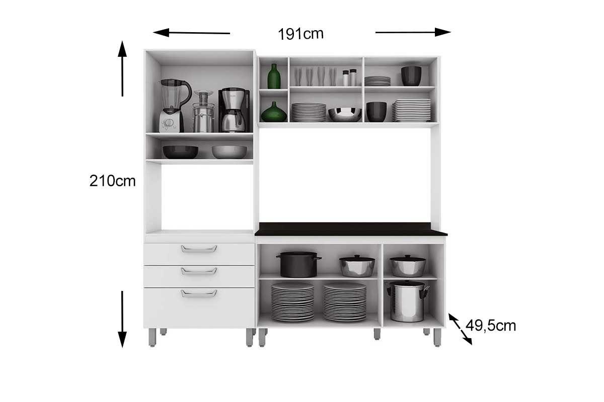 #435E3C Cozinha Compacta Henn Adapt 9 (Paneleiro Armário Aéreo Aéreo  1200x800 px Armario Cozinha Compacto #1821 imagens