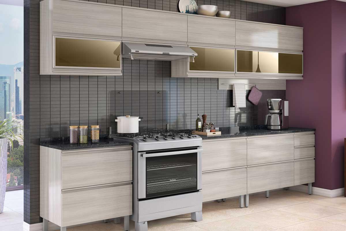 Aparador Para Sala Amarelo ~ Armário de Cozinha Itatiaia Aéreo Belíssima Plus IPH2 1V 120 Madeira c 2 Portas (1 c Vidro