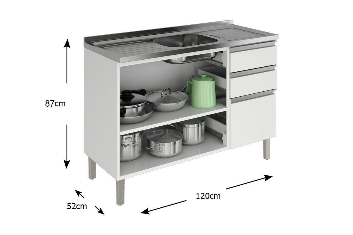 Gabinete Balc O De Cozinha Itatiaia Clarice Ig3g3 120 Pia A O C 2