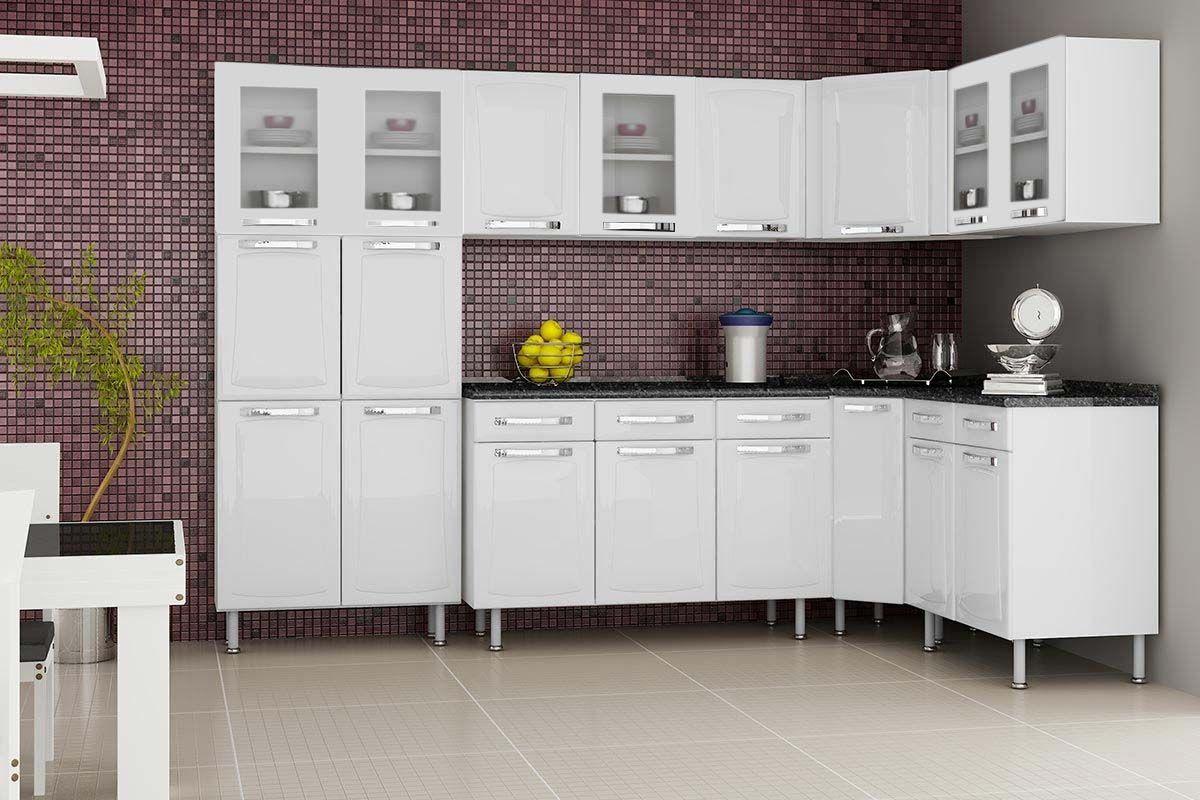 e753b40b58 ... Preto - Branco c   Cozinha Completa Itatiaia Itanew de Aço c  7 Peças  (Paneleiro+3 Armários+ ...