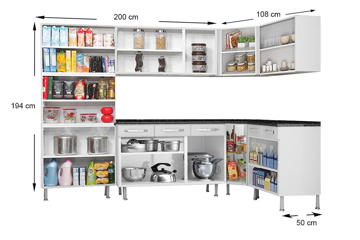 87061123c0 ... Cozinha Completa Itatiaia Itanew de Aço c  7 Peças (Paneleiro+3  Armários+. ‹ ›
