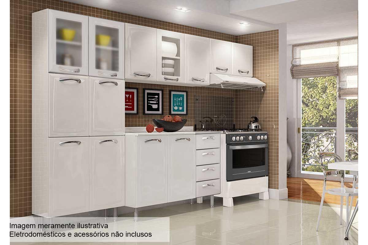 Cozinha Completa Itatiaia Premium De A O C 4 Pe As Paneleiro 2