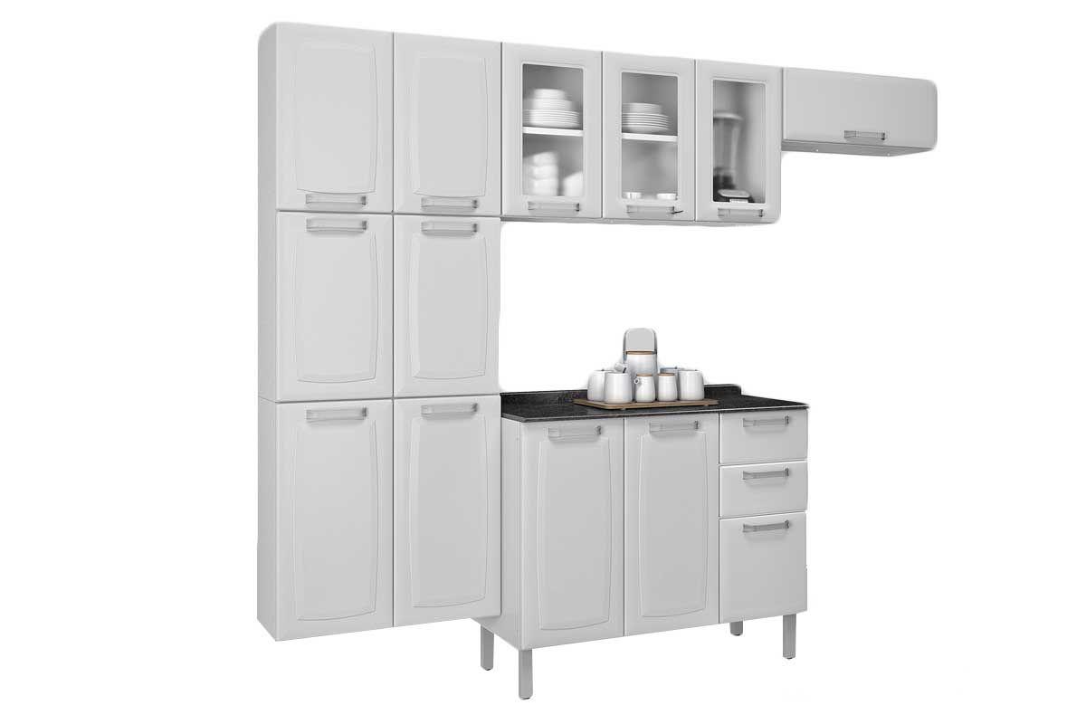Cozinha Completa Itatiaia Luce De A O C 4 Pe As Paneleiro 2 Arm Rios Gabinete Kit Cz57
