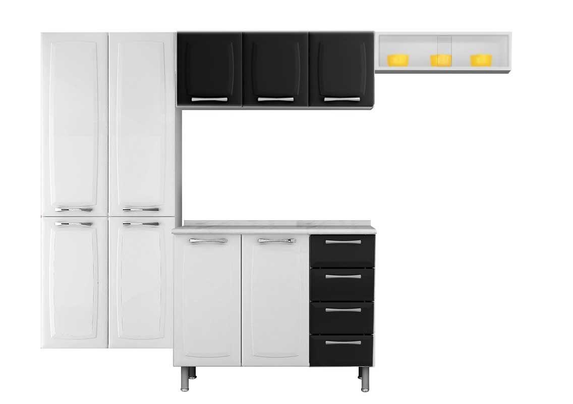 Cozinha Completa Itatiaia Anita Smart COZ 1 Aço (Paneleiro Nicho  #C0980B 1136 800