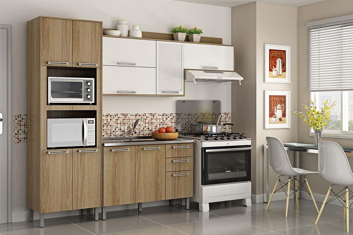 Cozinha Completa Itatiaia Audace COZ 1 Madeira (Paneleiro Armários  #9E962D 1200x800