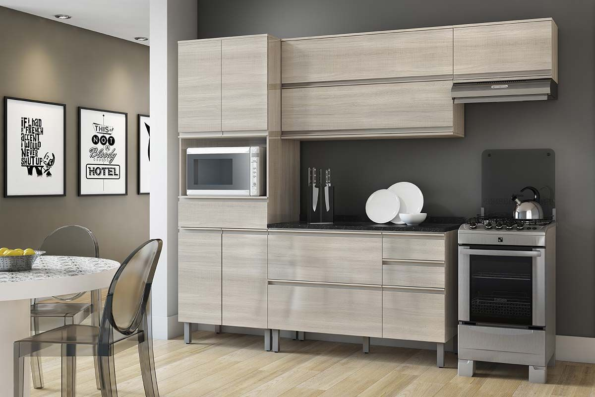 Cozinha Completa Itatiaia Bel Ssima Plus De Madeira 3 Pe As