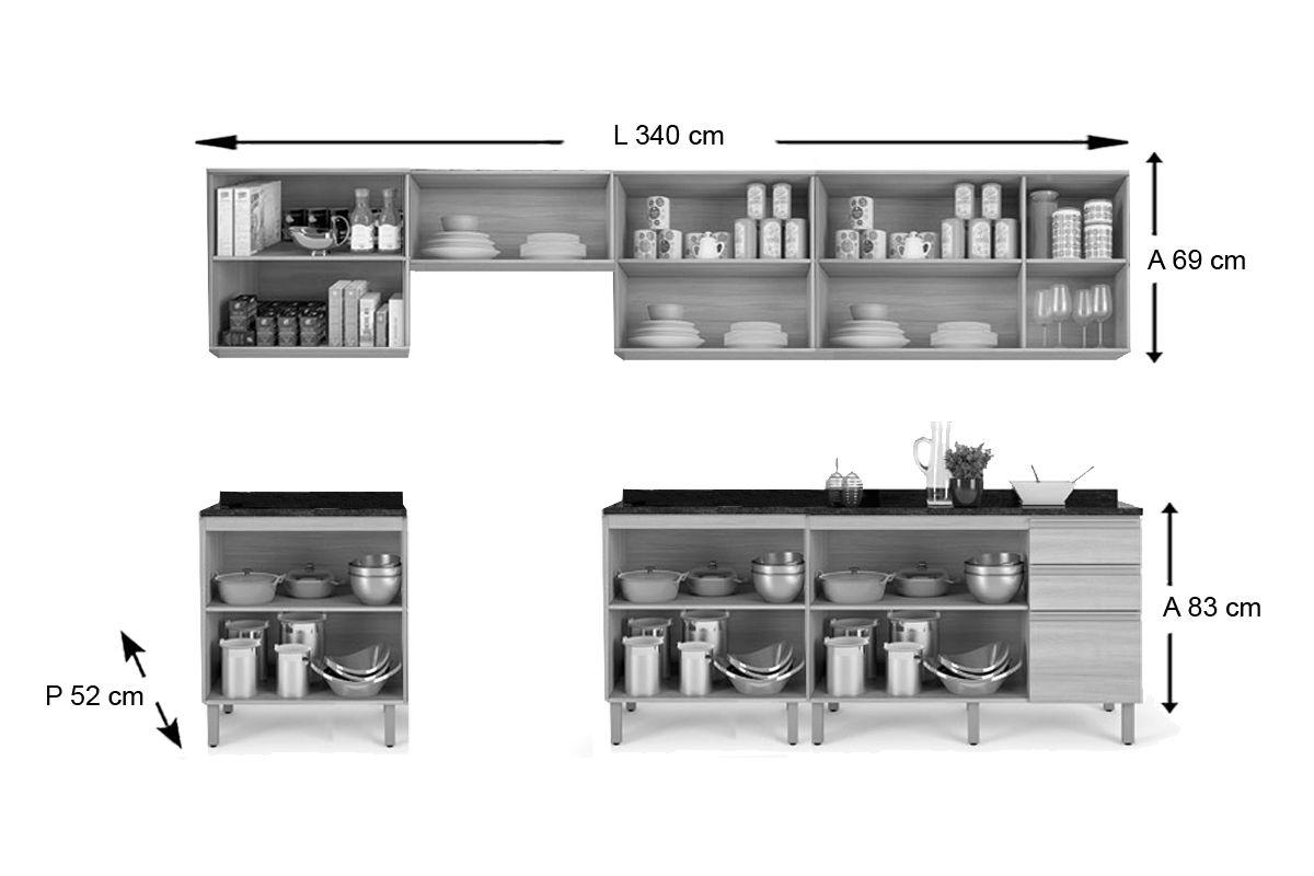 9d92ecb978 ... Cozinha Completa Itatiaia Belíssima Plus de Madeira c  11 Peças (4  Armários+3. ‹ ›