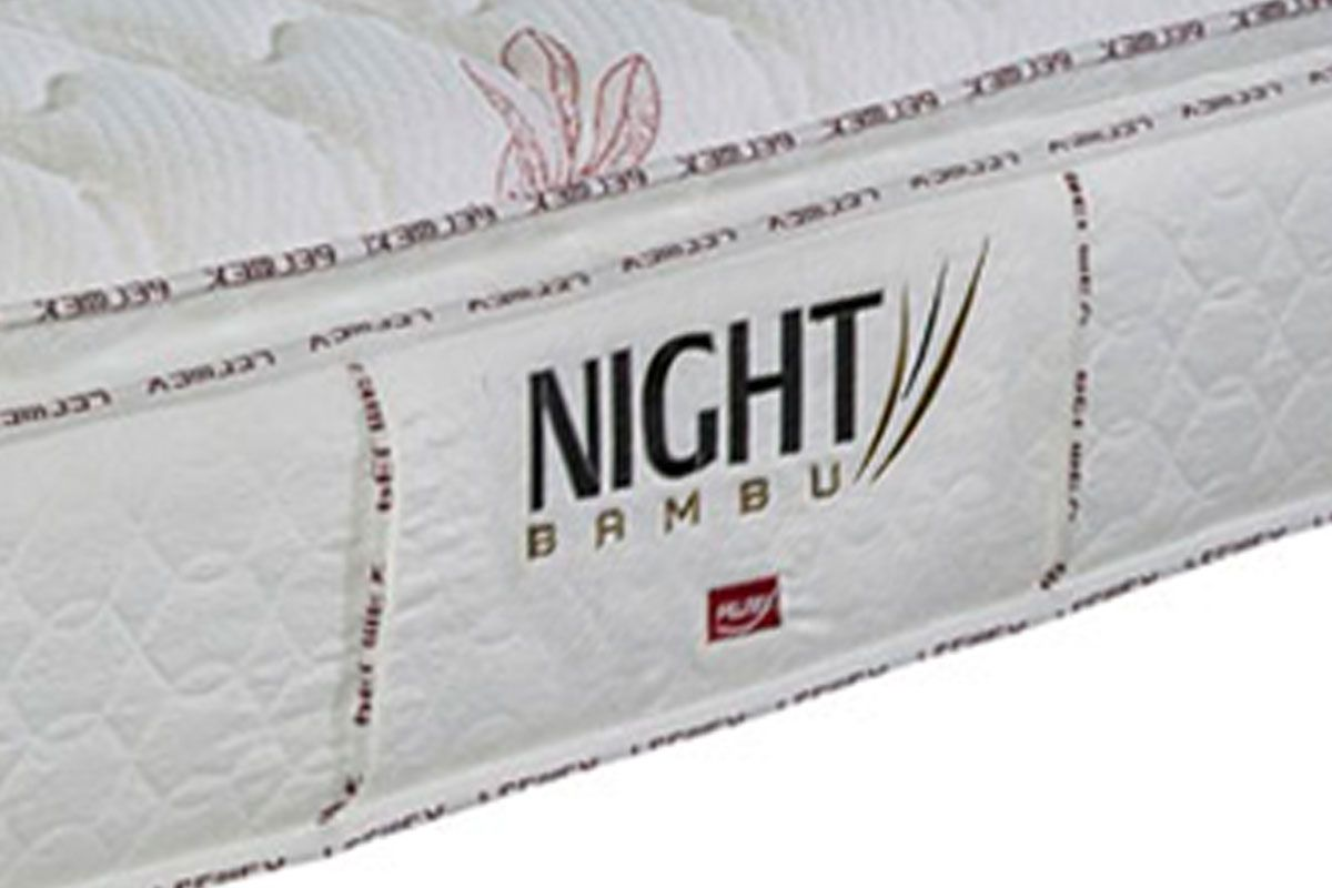 Colchão Pelmex de Molas Pocket Night Bambu Branco Pillow Top