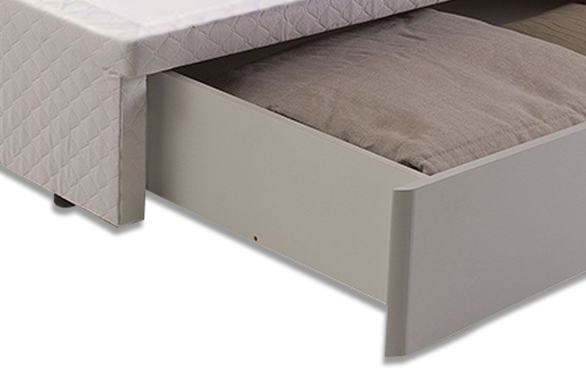 Cama Box Base Herval MH 1819 c/ Gaveta Frontal Tecido White