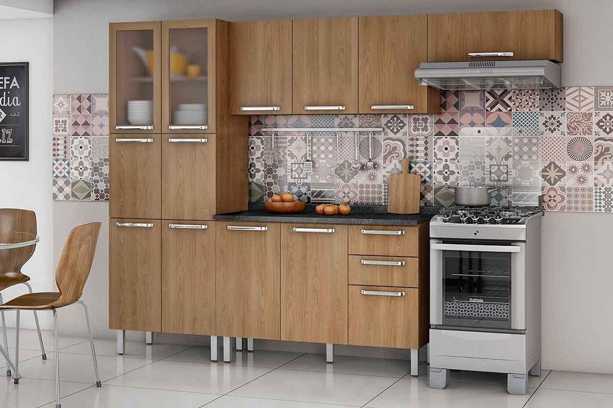 Cozinha Completa Itatiaia Cacau De Madeira C 3 Pe As Paneleiro 2