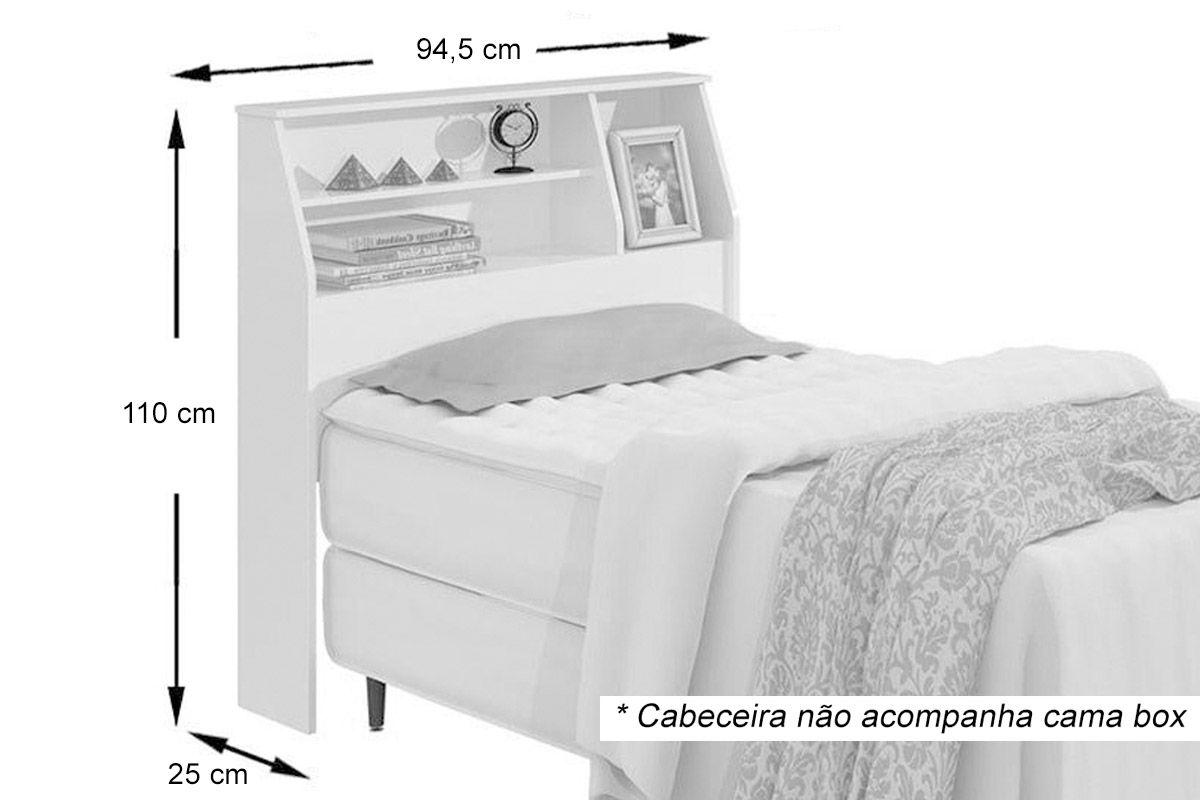 Image of: Cabeceira De Cama Box Solteiro Lopas Castellaro Costa Rica Colchoes