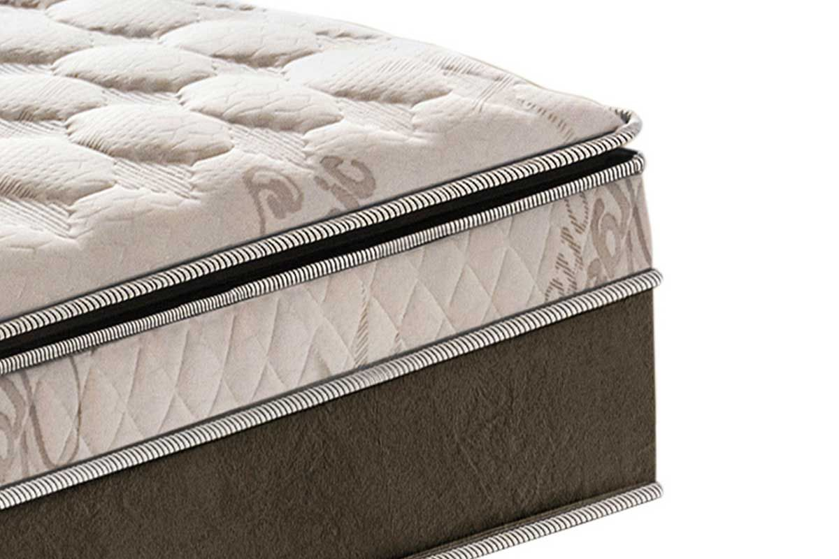 Colchão Somopar LightSpuma de Molas Pocket Prime Diamond Viscoelástico Euro Pillow/ Pillow Top