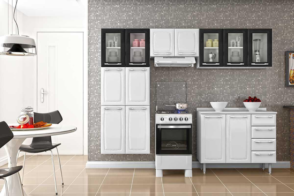 Cozinha Completa Itatiaia Criativa De A O 5v 4 Pe As Paneleiro 2