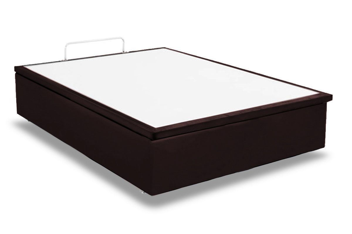 Cama Box Baú Ortobom Courino Rosolare Brown