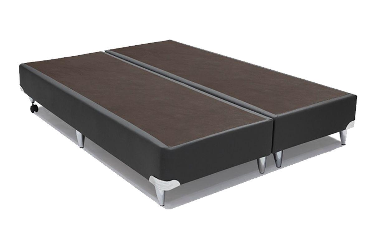 Cama box base ortobom cour no cinza sob medida costa for Base cama king size medidas