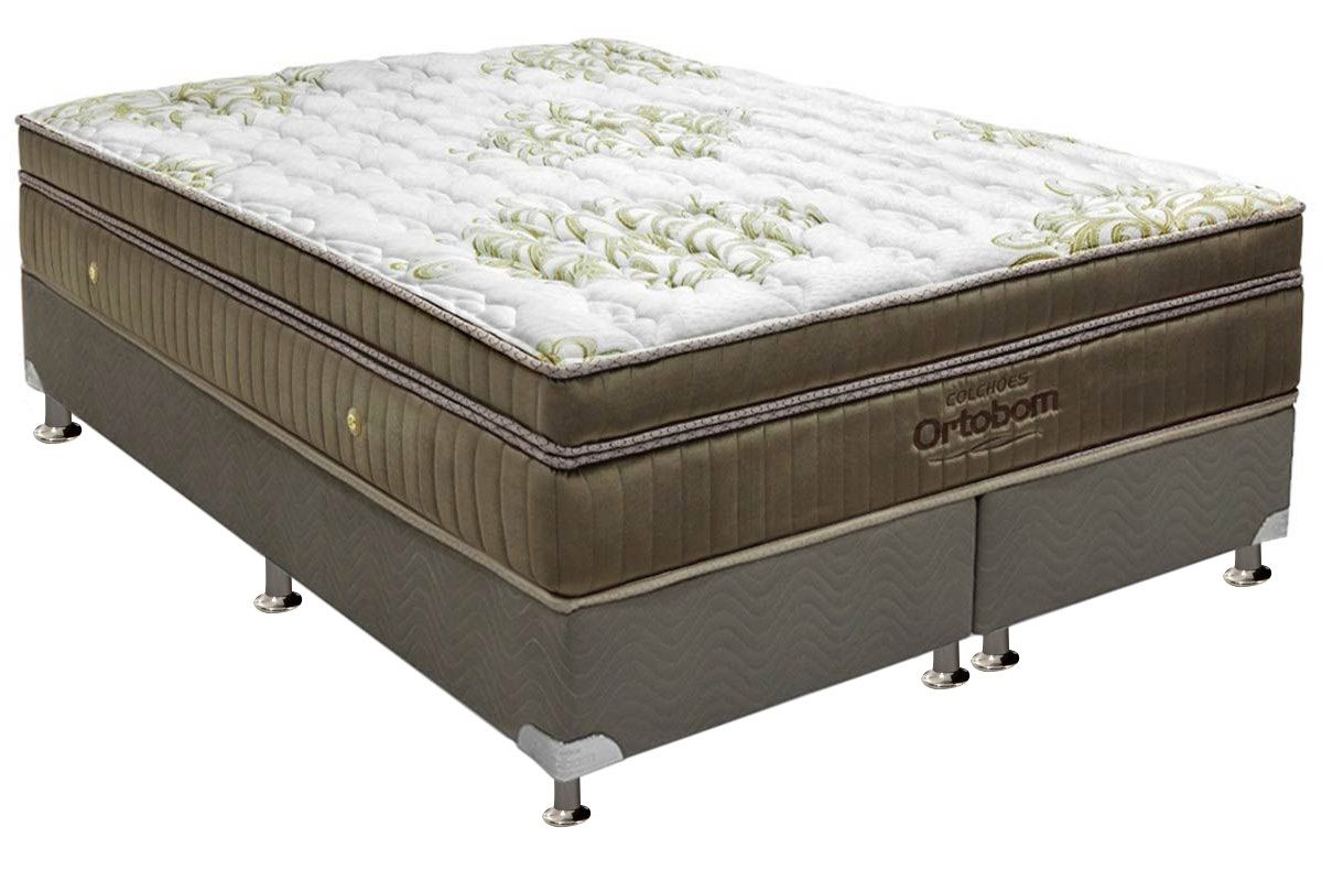 Colch o ortobom de molas pocket gold ultragel cama box for Cama queen costa rica