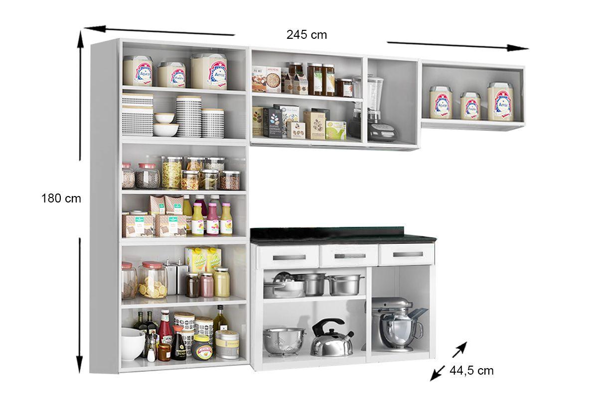 03ec139ec3 ... Cozinha Completa Telasul Rubi de Aço c  4 Peças (Paneleiro + 2 Armários  +. ‹ ›