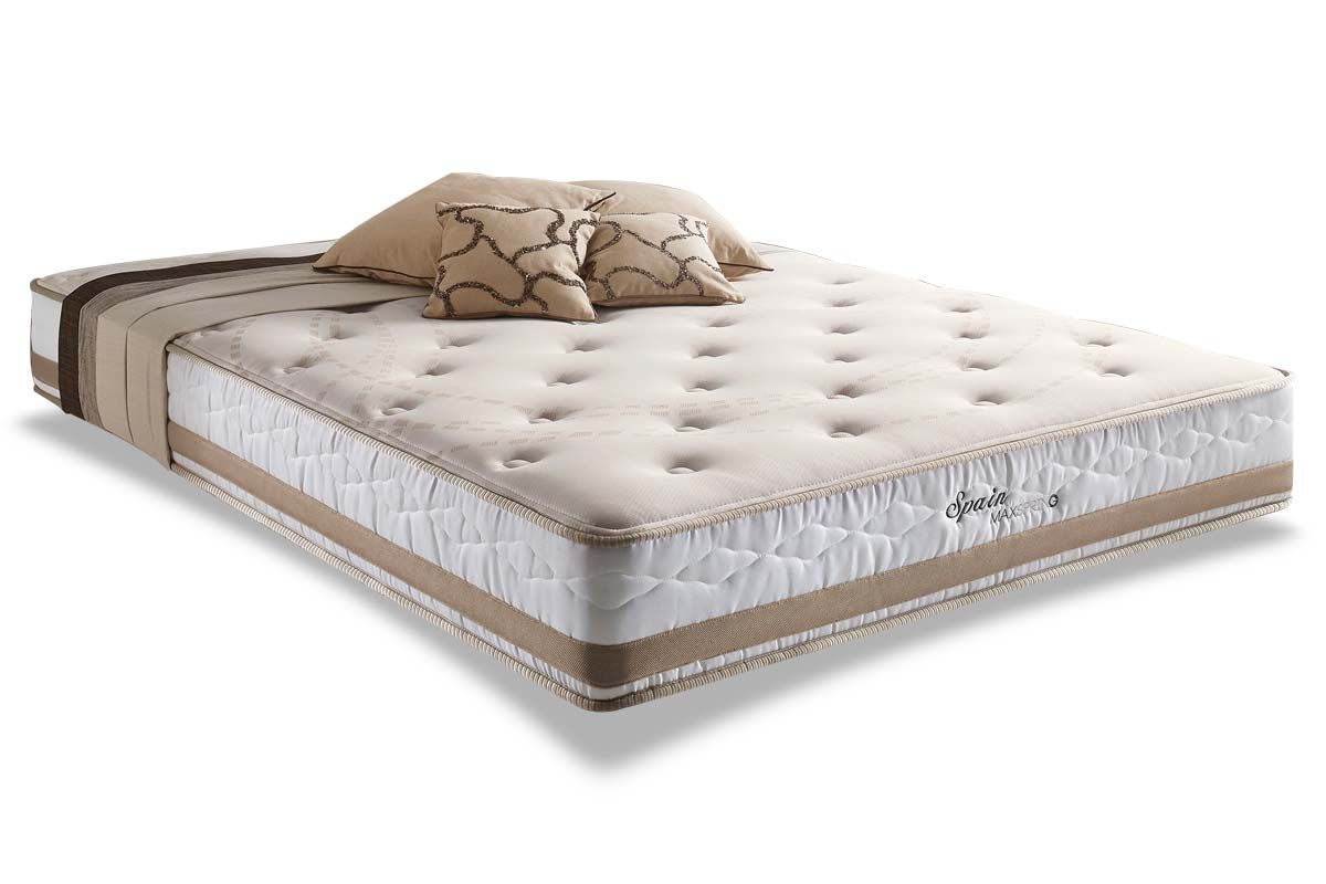 Conjunto Cama Box - Colchão Herval de Molas Maxspring Spain Pillow Top + Cama Box Baú Courino White