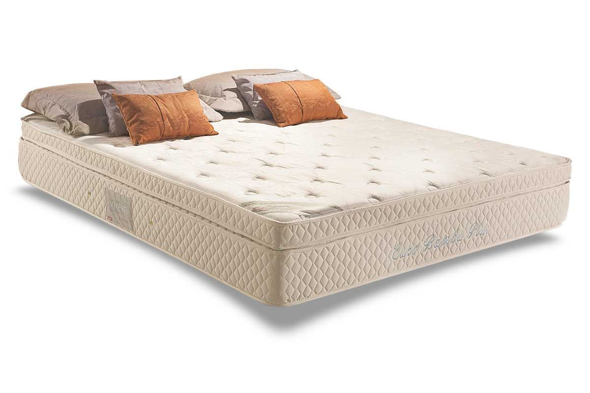 Conjunto Cama Box - Colchão Herval de Molas Pocket Euro Plus + Cama Box Baú Courino White