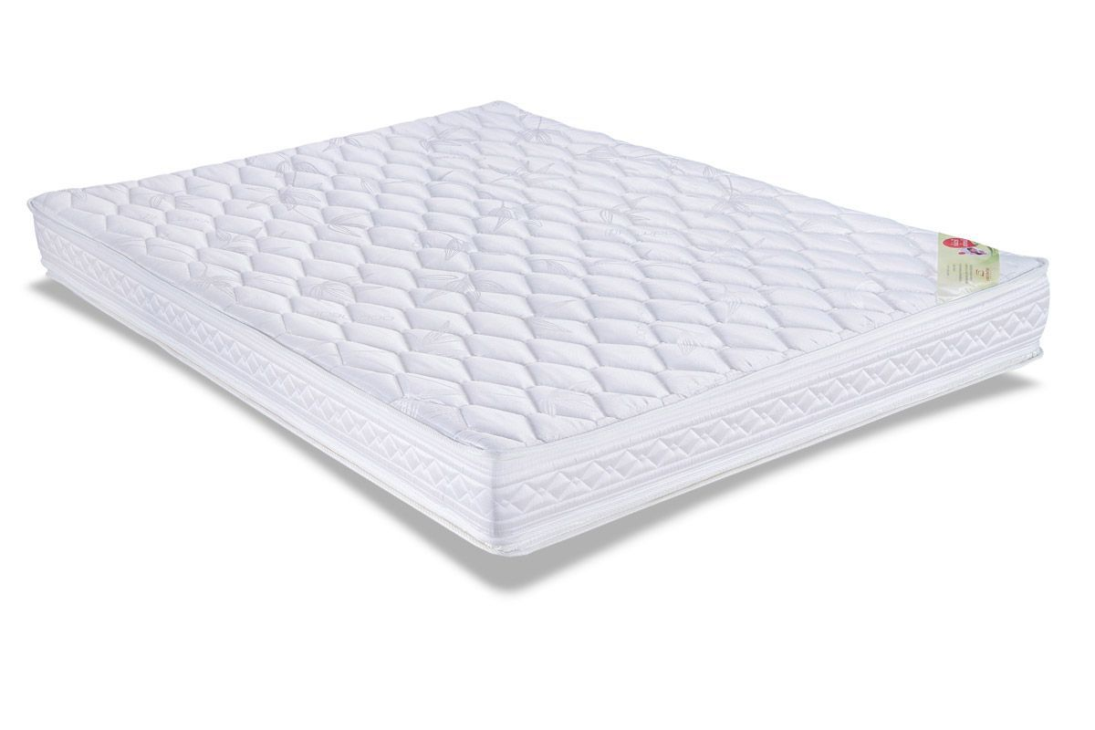 Conjunto Cama Box - Colchão Orthocrin de Espuma D33 Royal Plus  + Cama Box Baú Courino White