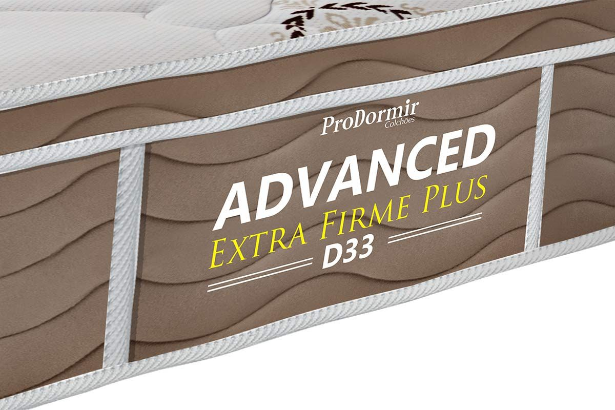 Colchão Probel de Espuma D33 ProDormir Advanced Extra Firme Plus Euro Pillow