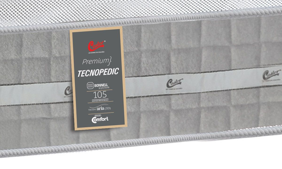 Colchão Castor de Molas Bonnel Premium Tecnopedic Euro Pillow
