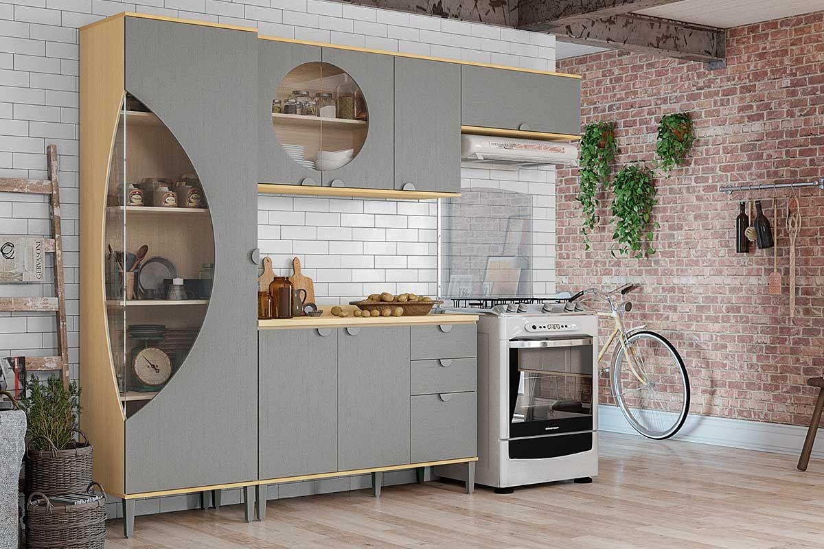 Cozinha Completa Kappesberg Pop C 4 Pe As Cz55 Paneleiro 2 Arm Rios