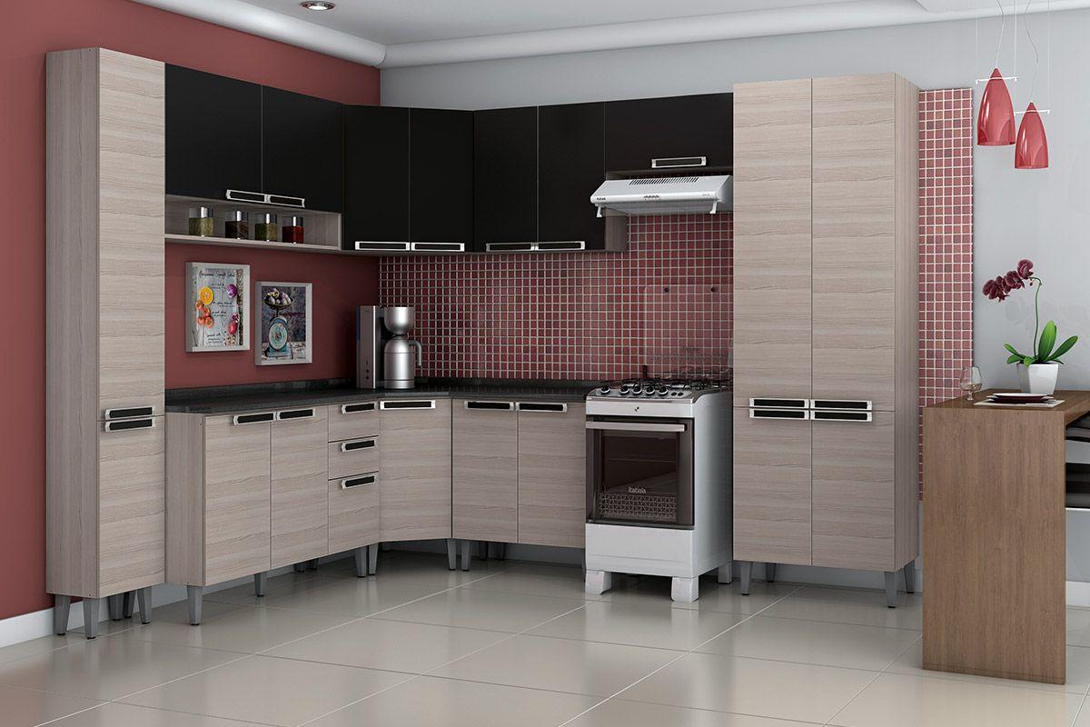 Paneleiro de Cozinha Itatiaia Jazz IPLA 35 Madeira Simples Alto c/ 2  #714644 1200 800