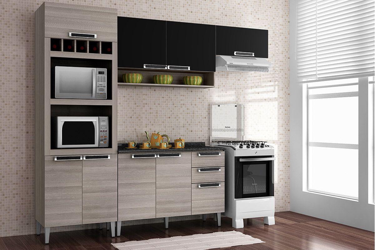 Paneleiro de Cozinha Itatiaia Jazz IPLDAFNO 70 Madeira Torre Quente  #996E32 1200 800