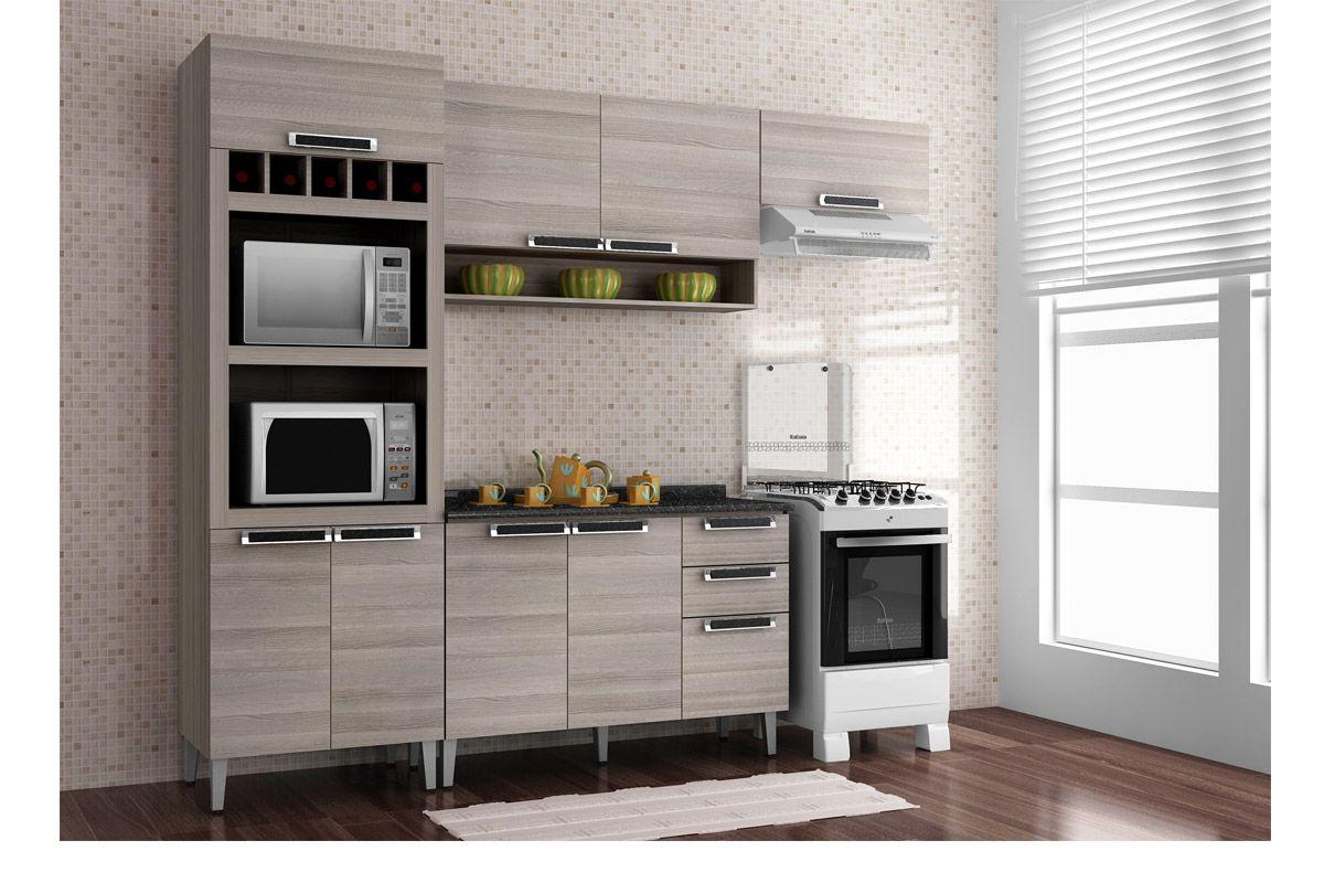 Image of: Armario De Cozinha Itatiaia Aereo Jazz Ip2nch 120 Madeira C 2 Portas E Nicho 120cm Costa Rica Colchoes