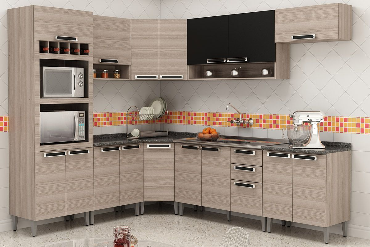 Gabinete (Balcão) de Cozinha Itatiaia Jazz IAG Madeira de Canto  #A42730 1200x800