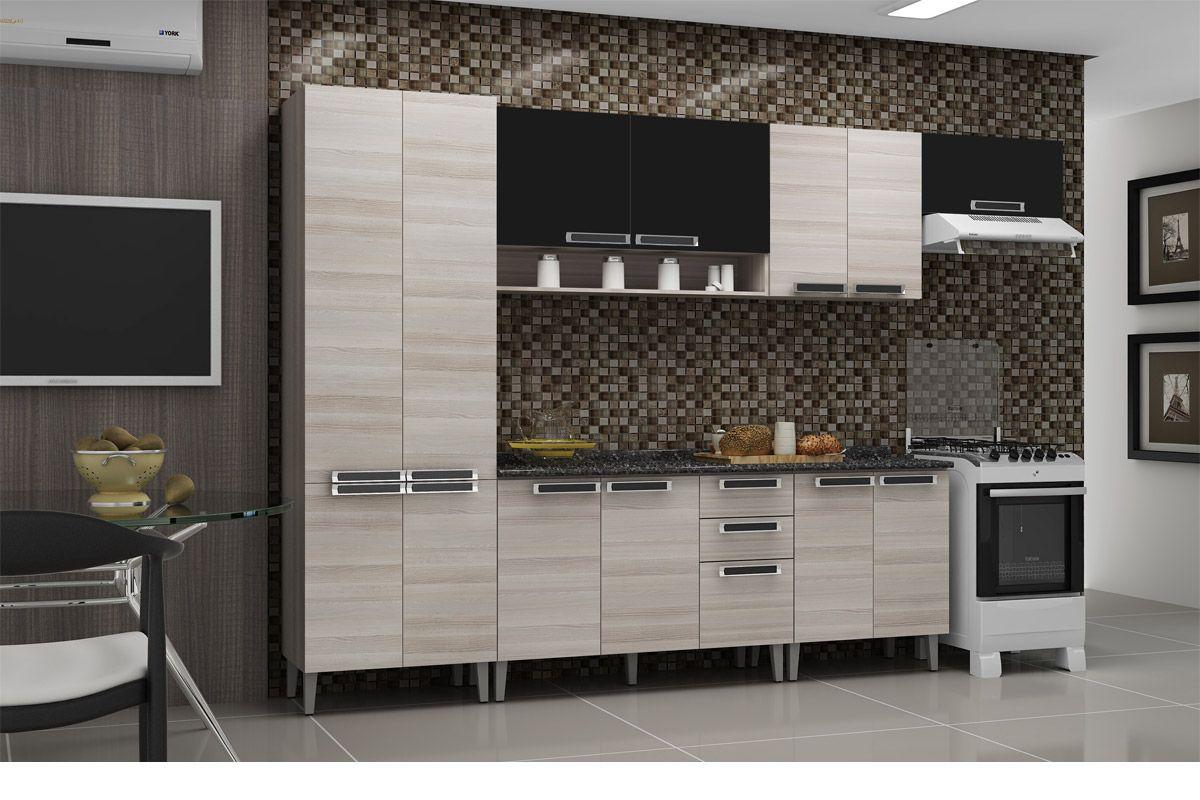 Gabinete (Balcão) de Cozinha Itatiaia Jazz IG2A 70 Madeira c/ 2  #655C4D 1200 800