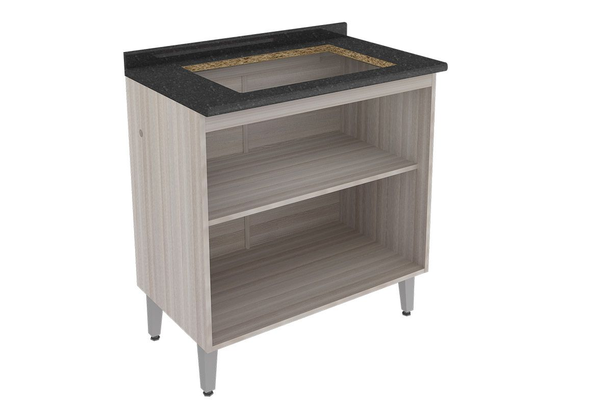 Gabinete (Balcão) de Cozinha Itatiaia Jazz IG2A 80 COOK 5B Madeira c  #665B50 1200x800