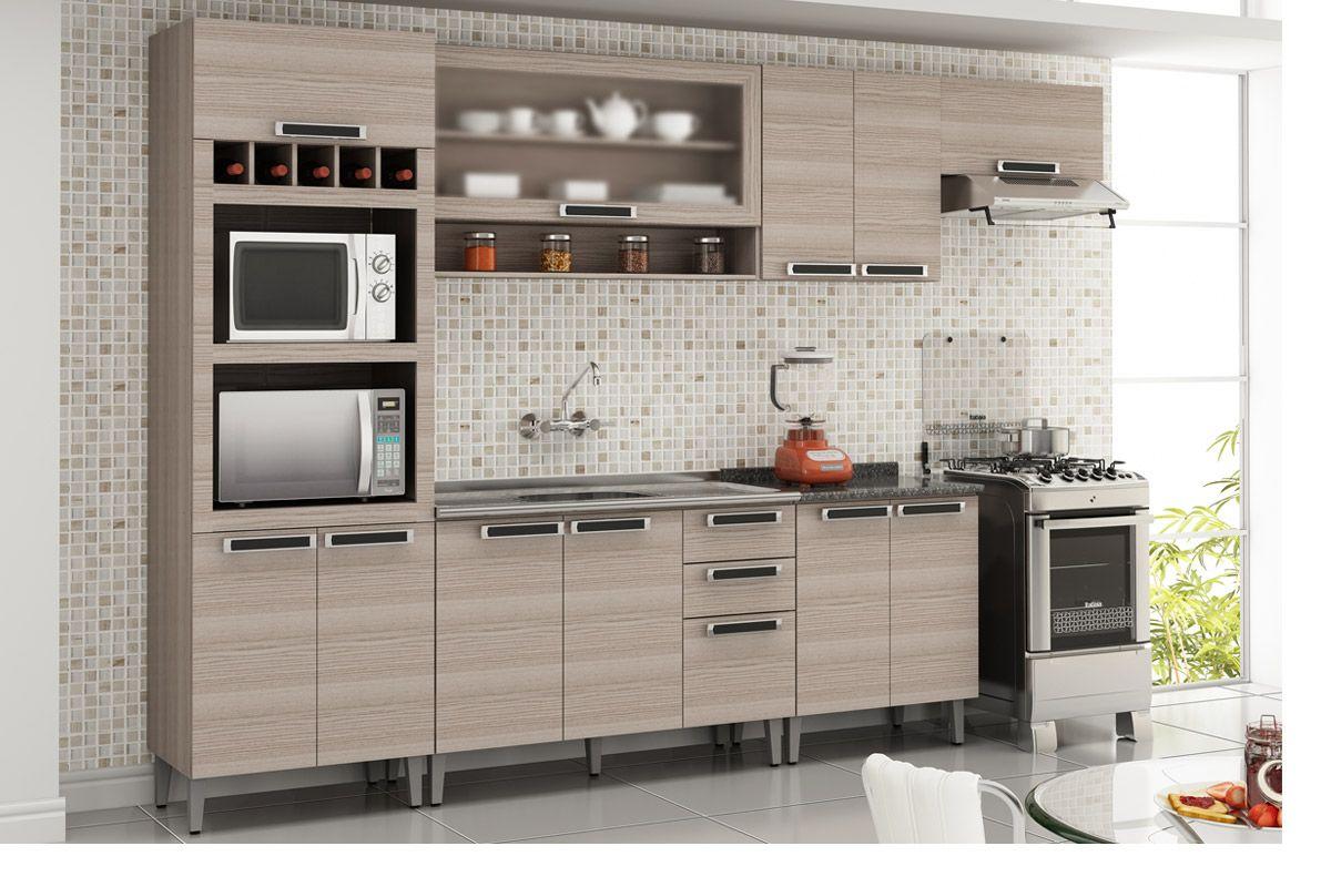 Gabinete (Balcão) de Cozinha Itatiaia Jazz IG3G2 120 Madeira Triplo c  #A63B25 1200 800