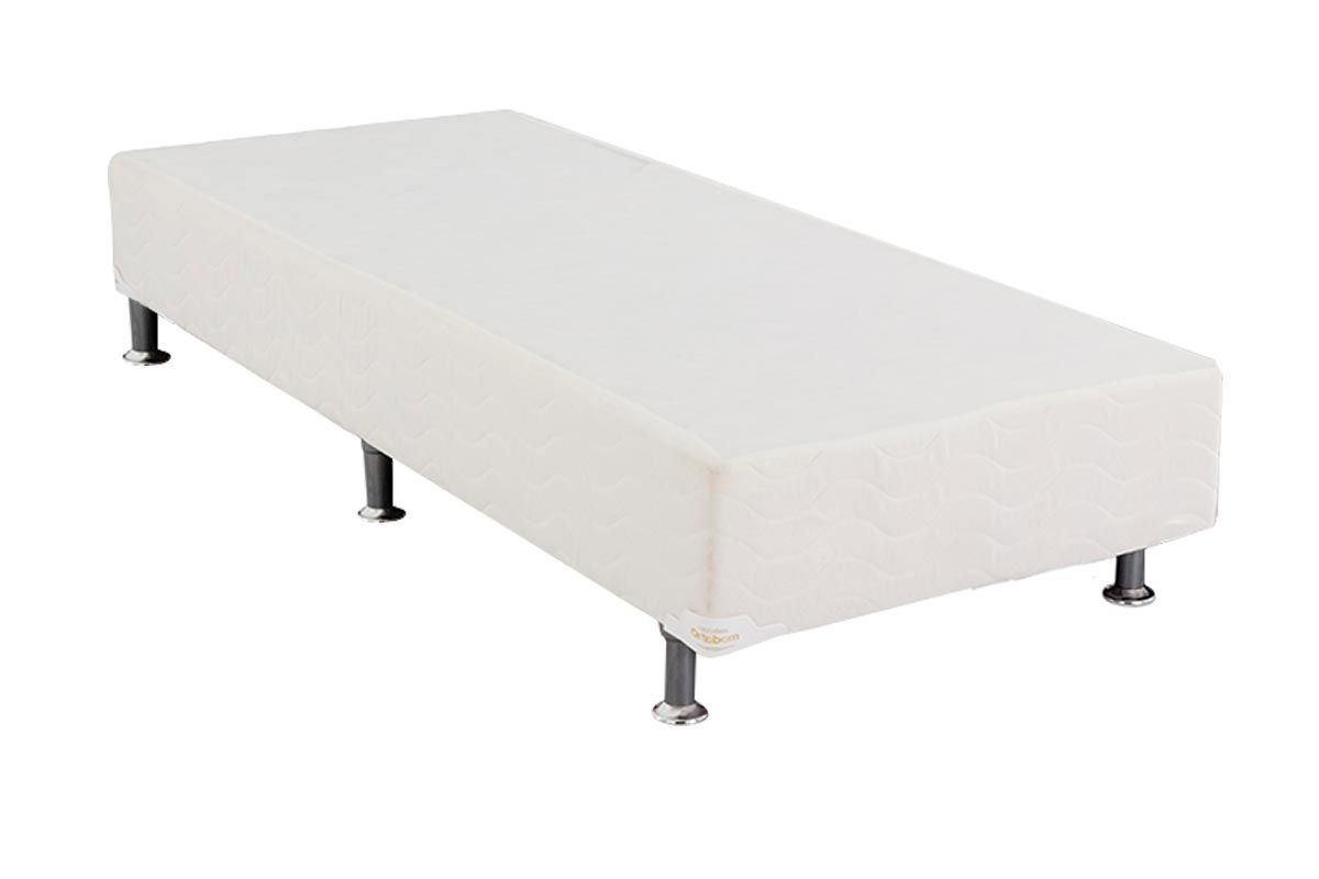 Cama Ortobom  Box Base Light Tecido White 24