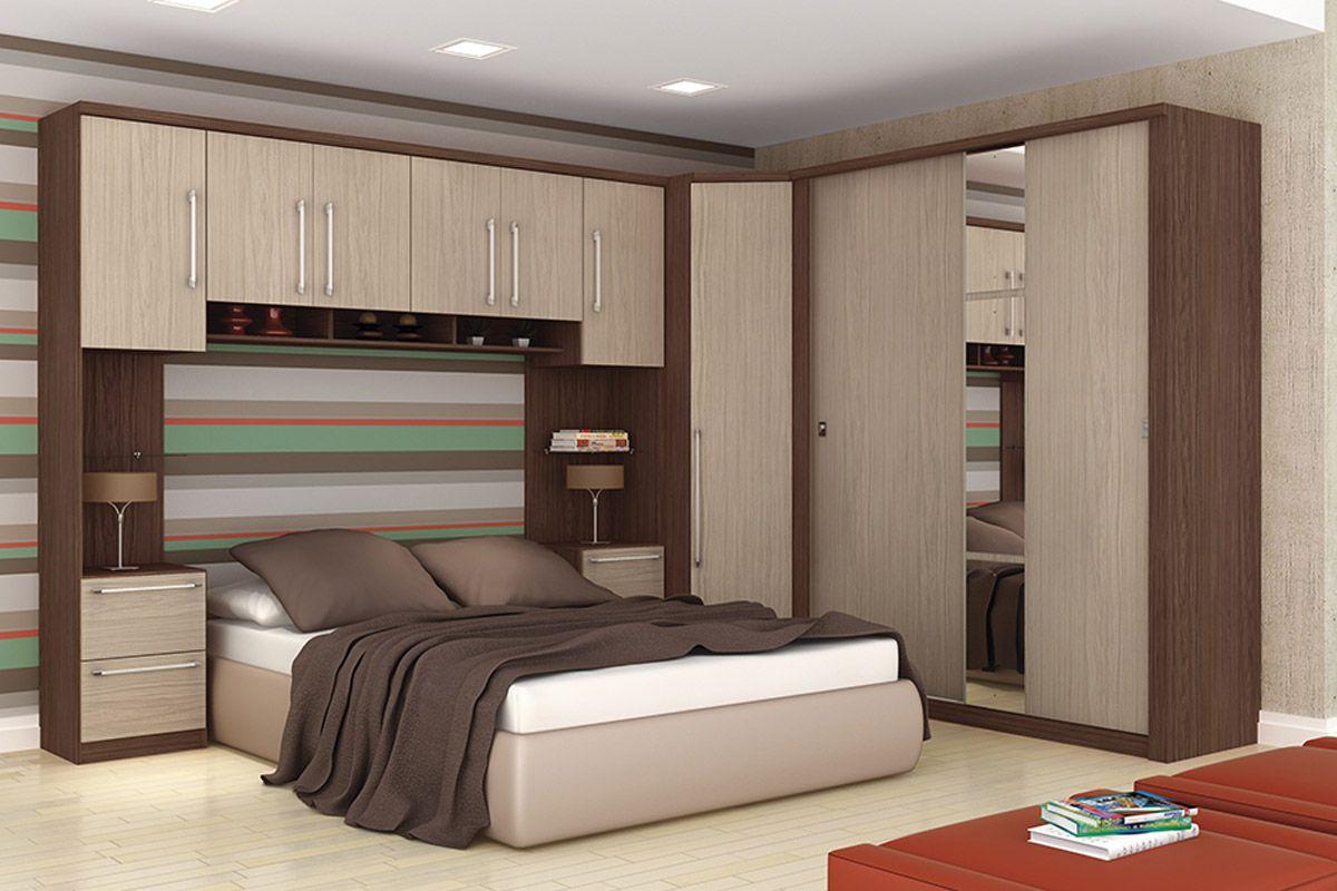 Guarda Roupa Closet De Canto Henn Criative C 1 Porta Modulado  ~ Quarto De Casal Grande Com Closet