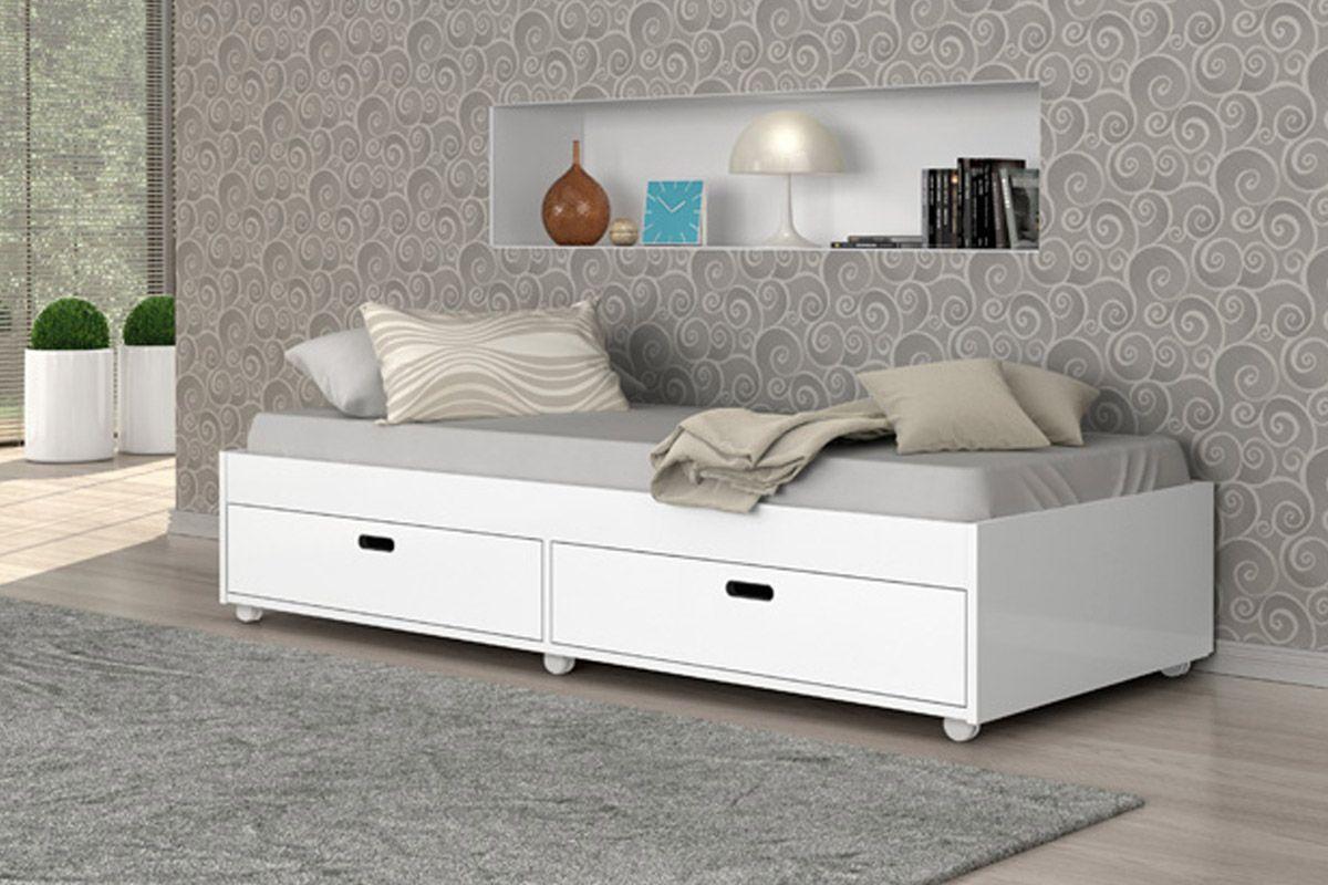 Sof cama conquista puff com 2 gavet es costa rica colch es for Sofa cama 2 metros