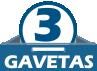 Móvel com 3 Gavetas