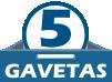 Móvel com 5 Gavetas
