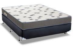Conjunto Box - Colchão Ortobom de Espuma D33 Light Saúde + Cama Box Universal Couríno Black
