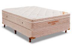 Conjunto Cama Box - Colchão Ortobom Apollo Viscomemory + Cama Box Universal Courino White