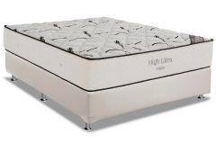 Conjunto Cama Box - Colchão Ortobom Hight Type Látex + Cama Box Universal Couríno White