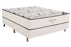 Conjunto Cama Box - Colchão Ortobom Hight Type Látex + Cama Box Universal Couríno White