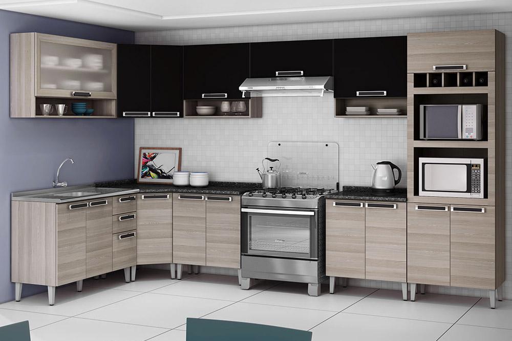 Cozinha Completa Itatiaia Jazz de Madeira c 10 Peças CZ21  Costa Rica Colchões # Armario De Cozinha Completo Extra