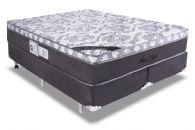 Conjunto Box - Colchão Luckspuma de Molas Pocket Maxi Eclypse + Cama Box Universal Couríno Black